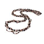Kryształowy naszyjnik z perłami słodkowodnymi, Perła naturalna słodkowodna, ze Kryształ & Koraliki szklane, Naturalne, 3-4mm, sprzedawane na 31 cal Strand