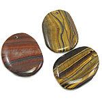 Mixed Gemstone Pendants, natural, 30x40mm, Hole:Approx 2mm, 30PCs/Bag, Sold By Bag