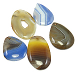 Agate Jewelry Pendants, Mixed Agate, mixed, 44-60mm, Hole:Approx 3mm, 30PCs/Bag, Sold By Bag
