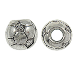 Zinc Alloy Jewelry Beads, Drum, antique silver color plated, nickel, lead & cadmium free, 11x10mm, Hole:Approx 4mm, Approx 290PCs/KG, Sold By KG