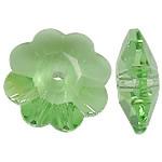 Koraliki z kryształów CRYSTALLIZED™ego, CRYSTALLIZED™, Kwiat, fasetowany, peridot, 8x8x3mm, otwór:około 0.8mm, 288komputery/Box, sprzedane przez Box