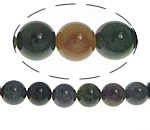 Natural Indian Agate Beads, Round, 10mm, Hole:Approx 1-1.2mm, Length:Approx 15 Inch, 10Strands/Lot, Approx 38PCs/Strand, Sold By Lot