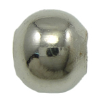 Iron Jewelry Beads, Round, platinum color plated, nickel, lead & cadmium free, 6mm, Hole:Approx 2mm, Approx 500PCs/Bag, Sold By Bag