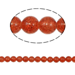 Crackle Glass Beads, Round, reddish orange, 10mm, Hole:Approx 2mm, Length:Approx 31 Inch, 10Strands/Bag, Sold By Bag