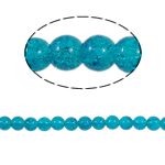 Crackle Glass Beads, Round, blue, 10mm, Hole:Approx 2mm, Length:Approx 31 Inch, 10Strands/Bag, Sold By Bag