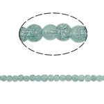Crackle Glass Beads, Round, green, 4mm, Hole:Approx 1.5mm, Length:Approx 31 Inch, 10Strands/Bag, Approx 220PCs/Strand, Sold By Bag