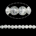 Crackle Glass Beads, Round, clear, 10mm, Hole:Approx 2mm, Length:Approx 31 Inch, 10Strands/Bag, Approx 82Strands/Strand, Sold By Bag