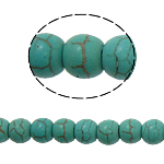 Turquoise Beads, 6mm, Hole:Approx 1mm, 71PCs/Strand, Sold per 15.5 Inch Strand