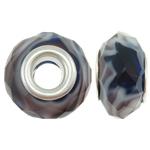 European kristalli helmiä, Rondelli, real hopeoitu, hopeaa Kaksoisjohdin ilman peikko, metalliväri päällystetty, 14x8mm, Reikä:N. 5mm, 20PC/laukku, Myymät laukku
