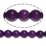 Purple Stone Beads, Round, approx 8-8.5mm, Hole:Approx 1mm, Length:Approx 15.5 Inch, 10Strands/Lot, Sold By Lot