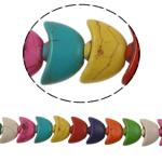 Turkusowe koraliki, Turkus syntetyczny, Sztabka, mieszane kolory, 14x9x6mm, otwór:około 1mm, około 42komputery/Strand, sprzedawane na około 15 cal Strand