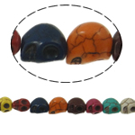Turquoise Beads, Skull, mixed colors, 13x12x10mm, Hole:Approx 1mm, Length:Approx 15.5 Inch, 10Strands/Lot, 30PCs/Strand, Sold By Lot