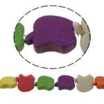 Turkusowe koraliki, Turkus syntetyczny, Jabłko, mieszane kolory, 20x18x6mm, otwór:około 1mm, około 22komputery/Strand, sprzedawane na około 15 cal Strand
