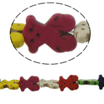 Turquoise Beads, Bear, mixed colors, 19.50x15x4mm, Hole:Approx 1mm, Approx 22PCs/Strand, Sold Per Approx 15.5 Inch Strand