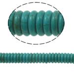 Turkusowe koraliki, Turkus syntetyczny, Okrąg, zielony, 12x3mm, otwór:około 1mm, około 119komputery/Strand, sprzedawane na około 15 cal Strand