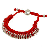 Friendship Bracelet, Wax, with Brass, 11mm, Sold Per 6 Inch Strand