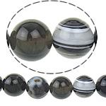 الطبيعية الخرز العقيق الرباط, الدانتيل العقيق, جولة, رمادي, 12mm, حفرة:تقريبا 1.5mm, طول:تقريبا 15.5 بوصة, 5جدائل/الكثير, تباع بواسطة الكثير