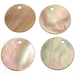 Shell Pendants, Coin, 15x15x1-1.5mm, Hole:Approx 1mm, 200PCs/Bag, Sold By Bag