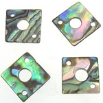 Shell Connector, Abalone Shell, Rhombus, 1/1 loop, 12x12x1-1.5mm, Hole:Approx 1.5, 4mm, 100PCs/Bag, Sold By Bag