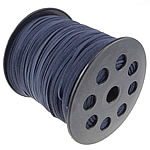 Velveteen Cord with plastic spool double-sided dark blue 3x1.50mm Length:100 Yard