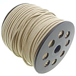 Velveteen Cord, beige, 3x1.50mm, Length:100 , Sold By PC