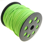 Velveteen Cord with plastic spool double-sided green 3x1.50mm Length:100 Yard