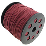 Velveteen Cord, double-sided, dark red, 3x1.50mm, Length:100 Yard, Sold By PC