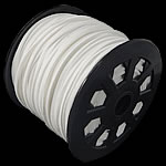Velveteen Cord, double-sided, white, 3x1.50mm, Length:100 Yard, Sold By PC