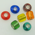 Mixed Glass Seed Beads Round Tube mixed colors Approx 1mm Sold By Bag