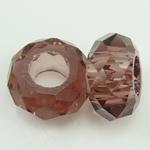 European kristalli helmiä, Rondelli, ilman peikko, Savukvartsi, 14x7mm, Reikä:N. 6mm, 50PC/Strand, Myyty Per 14 Strand