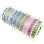 Tiger Tail Wire, mixed colors, 0.38mm, 10PCs/Lot, Sold By Lot