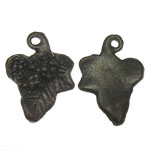 Metal Alloy Pendant, Leaf, antique bronze color plated, 14.50x20x3.50mm, Hole:Approx 1.5mm, 3KG/Lot, Sold By Lot