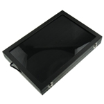 Skórzane pudełko na pierścienie, Skóra, Prostokąt, czarny, 350x240x45mm, sprzedane przez PC
