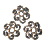Metal Alloy Bead Cap, Flower, antique copper color plated, 11x11x3.50mm, Hole:Approx 2.5mm, 3KG/Lot, Sold By Lot