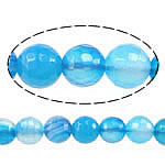 Natural Blue Agate Beads, Round, faceted, blue, 6mm, Hole:Approx 1mm, Length:Approx 15 Inch, 5Strands/Lot, Sold By Lot