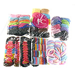 Hair Jewelry Elastic, mixed styles, 10-34mm, 10Bags/Group, Sold by Group