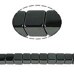 Niemagnetyczne koraliki z hematytu, Hematyt niemagnetyczny, Kostka, czarny, gatunek, 8x8mm, otwór:około 1mm, długość:15.5 cal, 10nici/wiele, sprzedane przez wiele