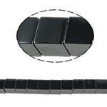 Niemagnetyczne koraliki z hematytu, Hematyt niemagnetyczny, Kostka, czarny, gatunek, 10x10mm, otwór:około 1.5mm, długość:15.5 cal, 10nici/wiele, sprzedane przez wiele