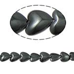 Niemagnetyczne koraliki z hematytu, Hematyt niemagnetyczny, Serce, czarny, gatunek, 12x4mm, otwór:około 1.5mm, długość:15.5 cal, 10nici/wiele, sprzedane przez wiele