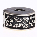 Brass European Clip, Rondelle, nickel, lead & cadmium free, 10x6mm, Hole:Approx 3mm, Sold By PC