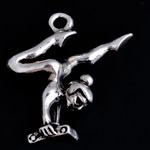 Character Shaped Zinc Alloy Pendants, Boy, antique silver color plated, nickel, lead & cadmium free, 25x23x8mm, Hole:Approx 2.5mm, 10PCs/Bag, Sold By Bag