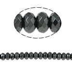 Magnetic Hematite Beads, Non Magnetic Hematite, Rondelle, black, Grade A, 6x4mm, Hole:Approx 1.5mm, Length:15.5 Inch, 10Strands/Lot, Sold By Lot