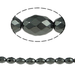 Magnetic Hematite Beads, Oval, black, A Grade, 8x6mm, Hole:Approx 1mm, Length:15.5 Inch, 10Strands/Lot, Sold By Lot