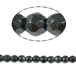 Magnetic Hematite Beads, Round, black, Grade A, 4x4mm, Hole:Approx 1mm, Length:15.5 Inch, 10Strands/Lot, Sold By Lot