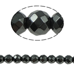 Magnetic Hematite Beads, Round, black, Grade A, 6x6mm, Hole:Approx 1.5mm, Length:15.5 Inch, 10Strands/Lot, Sold By Lot