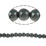 Magnetic Hematite Beads, 6mm, Hole:Approx 2mm, Length:15.5 Inch, 10Strands/Lot, Sold by Lot