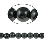 Magnetic Hematite Beads, Round, black, Grade A, 16mm, Hole:Approx 2mm, Length:15.5 Inch, 10Strands/Lot, Sold By Lot