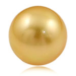 No Hole Cultured Freshwater Pearl Beads, Round, golden, 14mm, Sold By PC