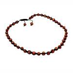 Ожерелья Шамбал, Пресноводные жемчуги, с Восковой шнур, 9-10mm, Продан через 18 дюймовый Strand