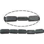 Black Stone Beads, Rechthoek, natuurlijk, 17.5x7x5-17.5x11x4.5mm, Gat:Ca 1.5mm, Ca 23pC's/Strand, Per verkocht Ca 15.5 inch Strand